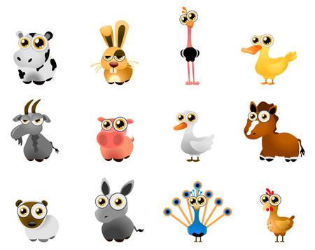 farm animal - cartoon