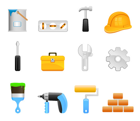 collection of work tool  Stock Vector - 8610271