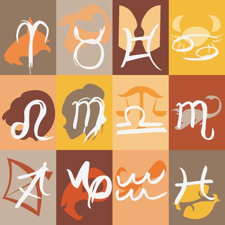 jungfrau: Sternzeichen  Illustration