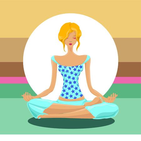 yoga concept Stock Vector - 8684922
