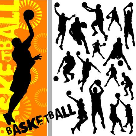 canestro basket: basket  Vettoriali