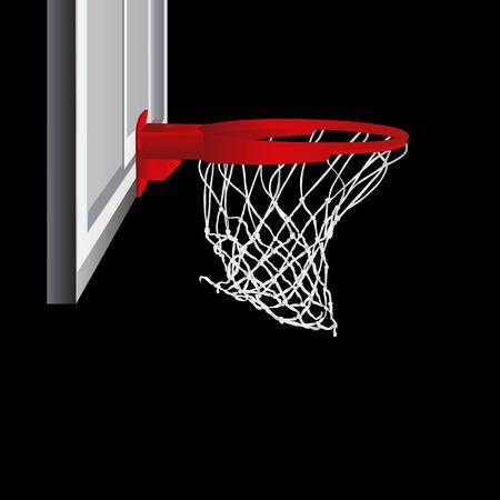 metal net: aro de baloncesto   Vectores