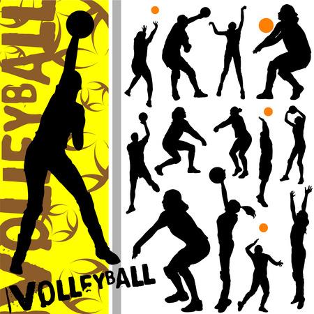 sportswoman: volleyball  Illustration