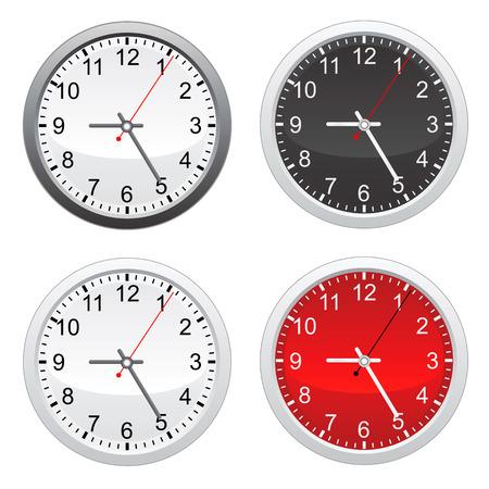circa: wall clock Illustration