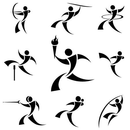 jump shot: sport logo Illustration