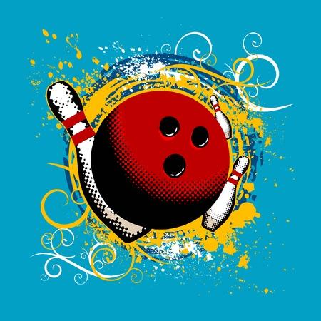 lanes: bowling Illustration