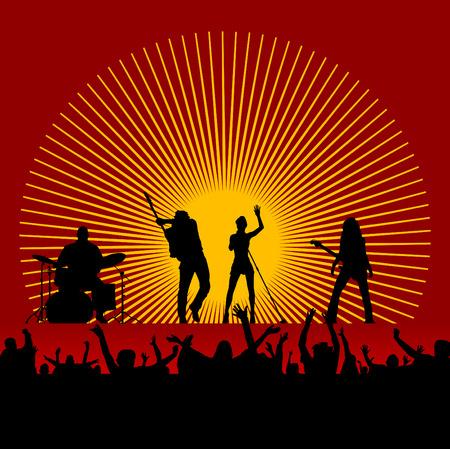 rock guitarist: music festival