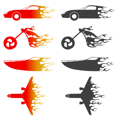 motor race: fire vehicles