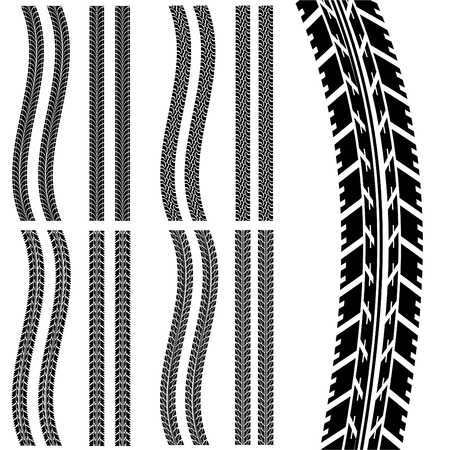 tire track: set of car tyre