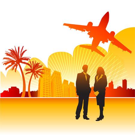 business trip Vecteurs