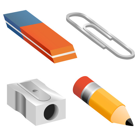 sacapuntas: objetos de educación   Vectores