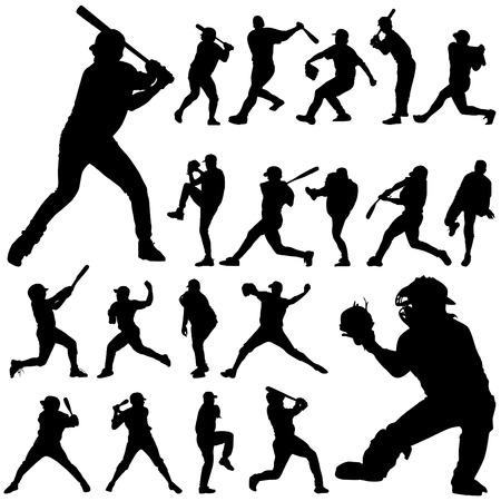 baseball game: baseball player  Illustration