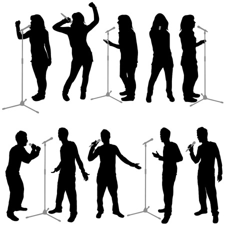 s�ngerin: Gesang Menschen  Illustration