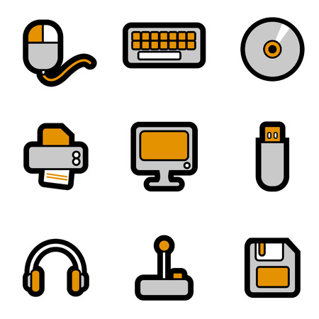 computer objects icon set  Stock Vector - 8764827