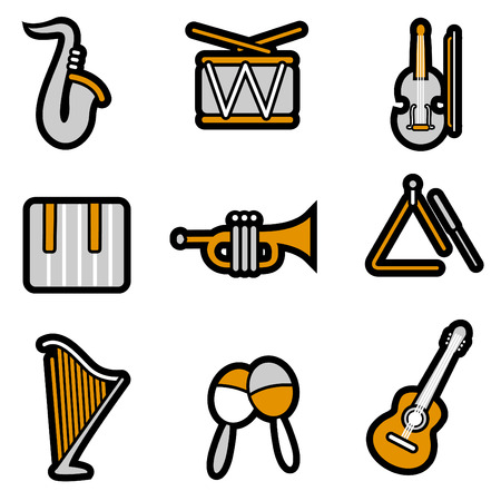 music objects set Stock Vector - 8764831