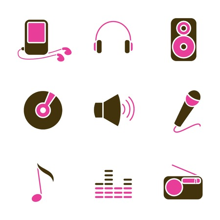 music icons Stock Vector - 8764824