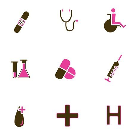 medical icon set Stock Vector - 8764821