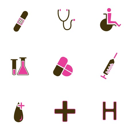 medical icon set Stock Vector - 8764821
