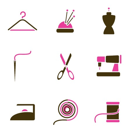 tailoring object icon set  Stock Vector - 8764817
