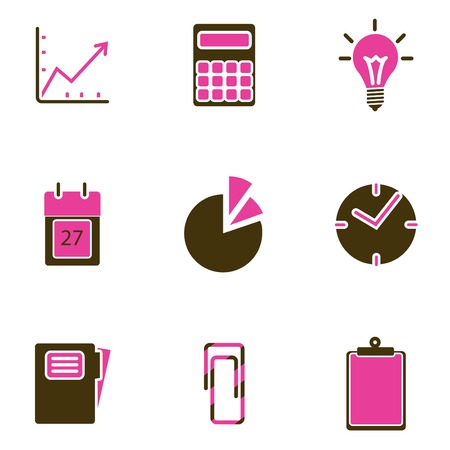 office object icon set Stock Vector - 8764820