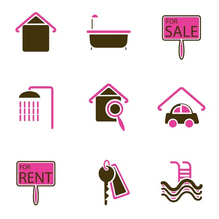house object icon set  Stock Vector - 8764826