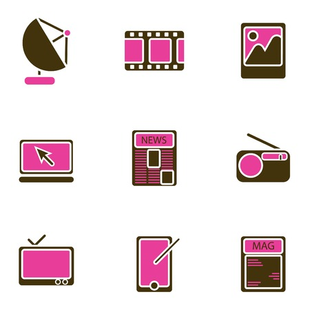 electronic object icon set  Stock Vector - 8764825