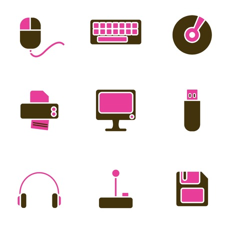 music object icon set Stock Vector - 8764816