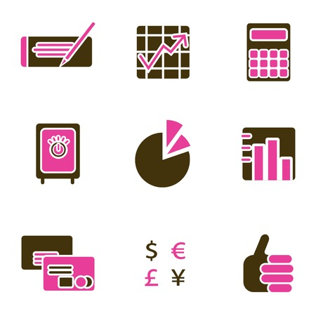 office object icon set Stock Vector - 8764823