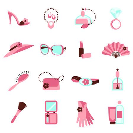 make up brush: icono de objetos de las mujeres  Vectores
