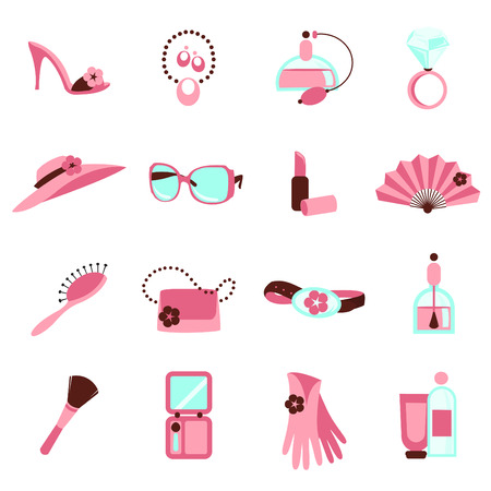 women objects icon Stock Vector - 8764835