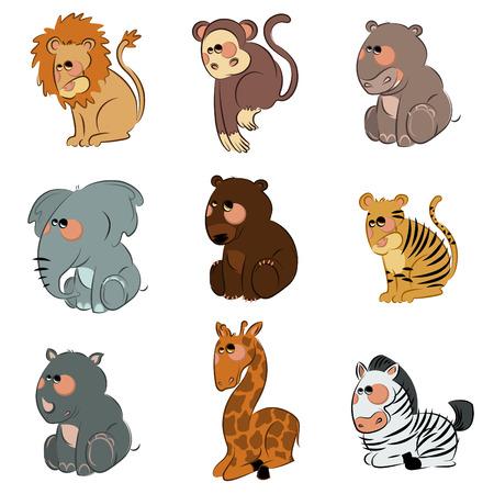 cartoon wild animals Stock Vector - 8764837