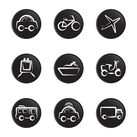 on air sign: vehicles icon set