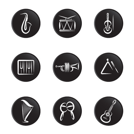 music icons  Stock Vector - 8764865