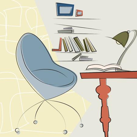 modern office interior design  Vector