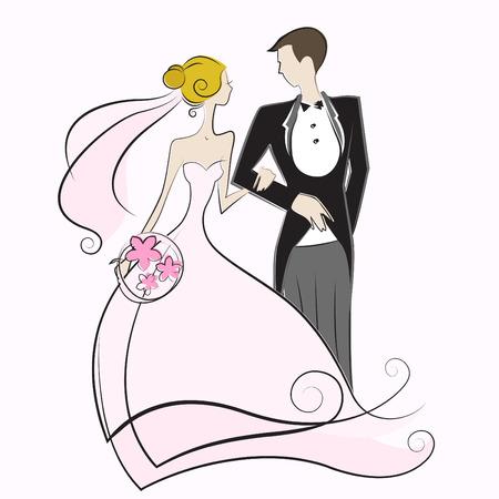 heiraten: Hochzeit  Illustration