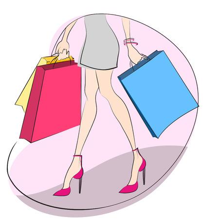 shopping concept Stock Vector - 8764854