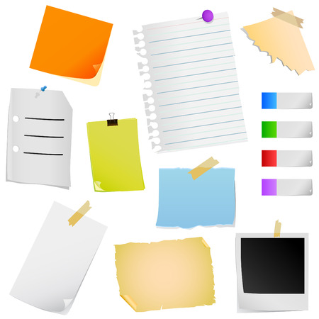note paper Stock Vector - 8764922