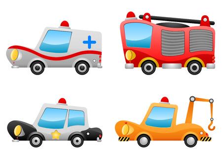 police car: vehicle illustrations Illustration