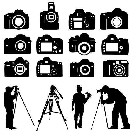 photographers and cameras  Stock Vector - 8764938