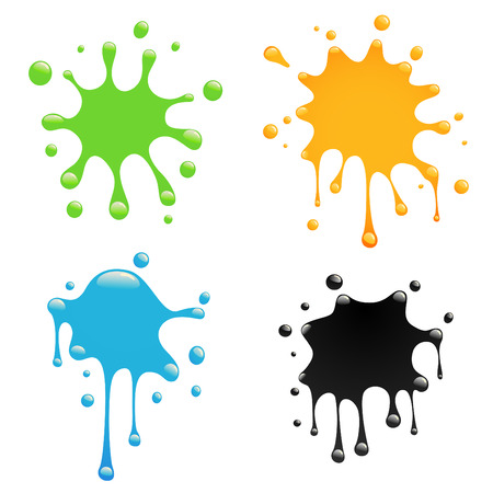 ink stain: colorful splash set  Illustration