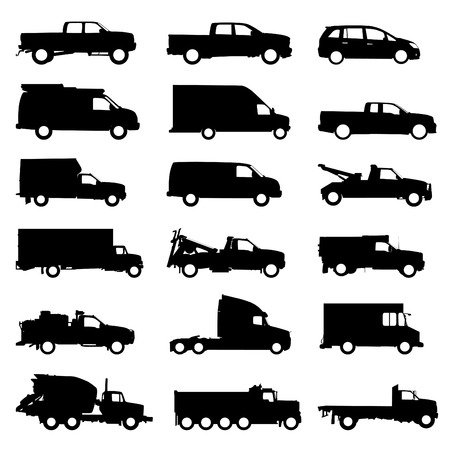 transportation set  Vector