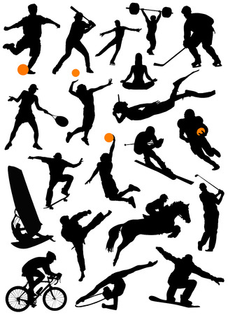 big set of sport Stock Vector - 8764900