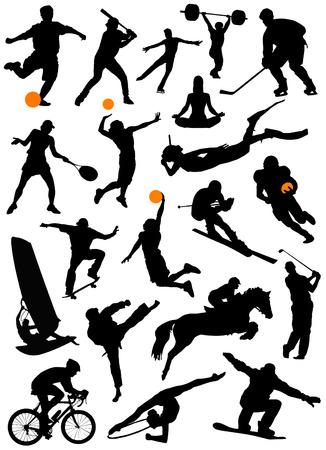 conjunto grande de deporte Foto de archivo - 8764900