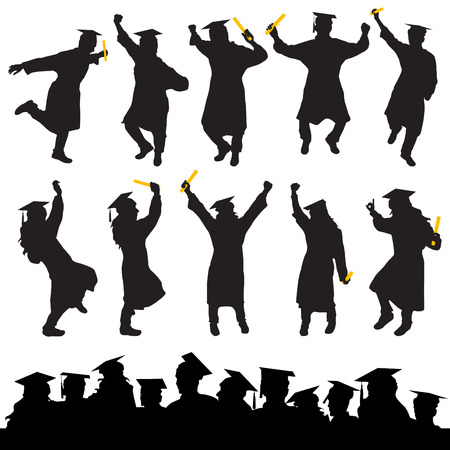 graduation  Stock Vector - 8764919