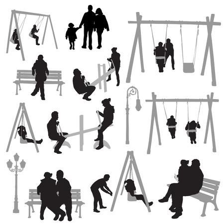 familia parque: personas de la pareja en el Parque