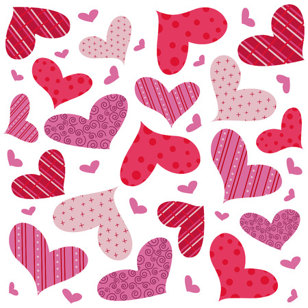 dessin coeur: patron sans soudure de coeur  Illustration