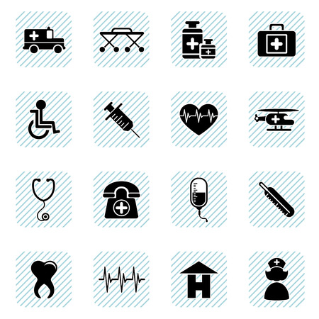 medical icons set Stock Vector - 8764951