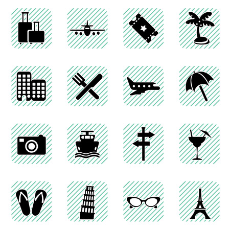 historical building: travel icons set