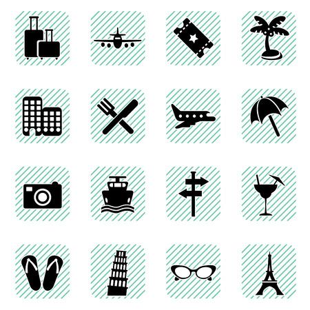 slipper: travel icons set