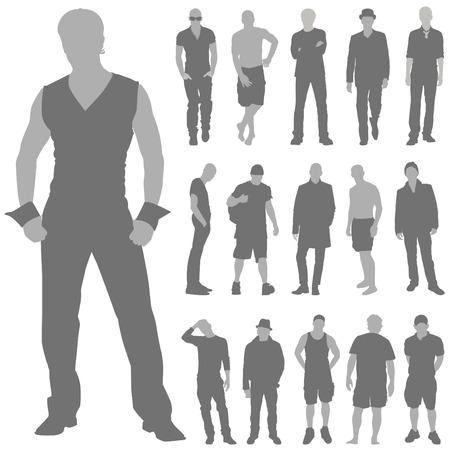 欲望: ファッション男性セット  イラスト・ベクター素材